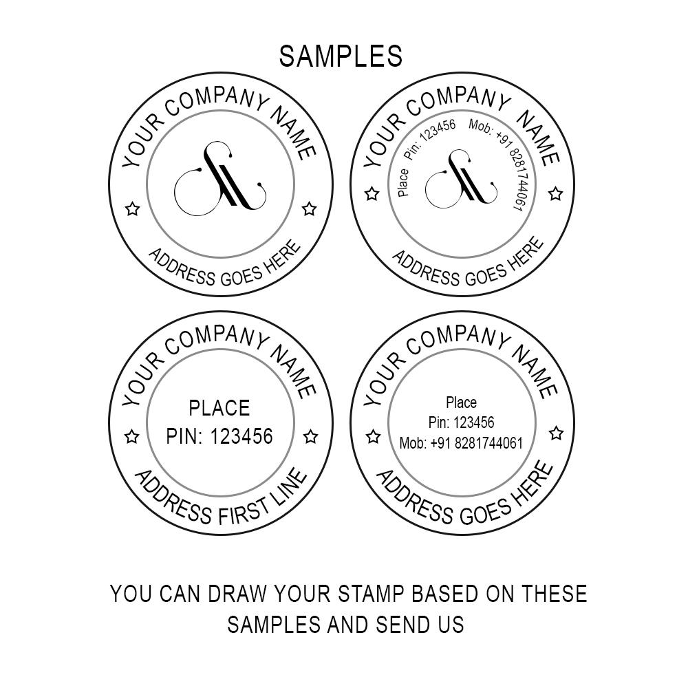 Round Stamp 40x40 Mm Exmark Online Stamp Makers