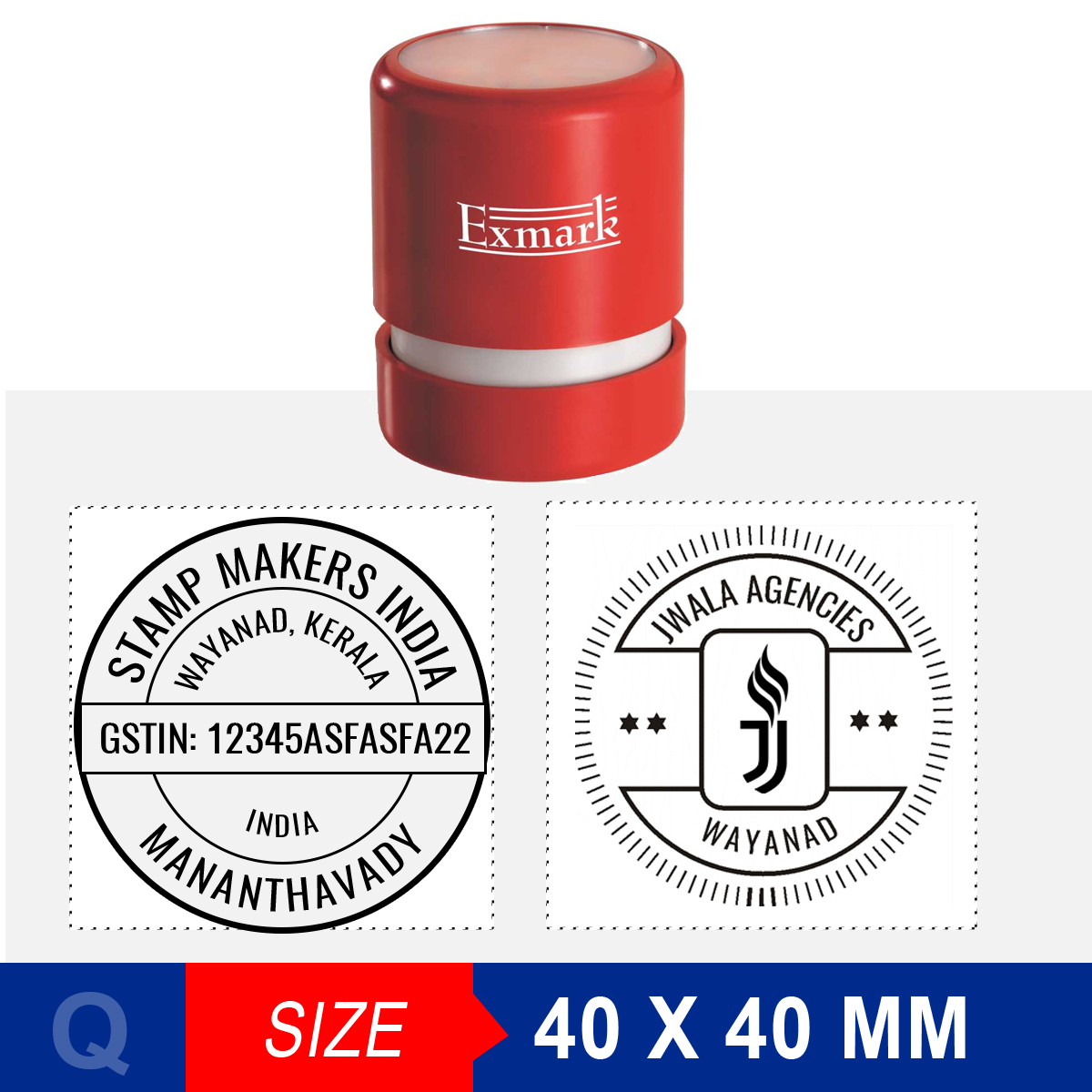 Round Stamp 40X40 Mm
