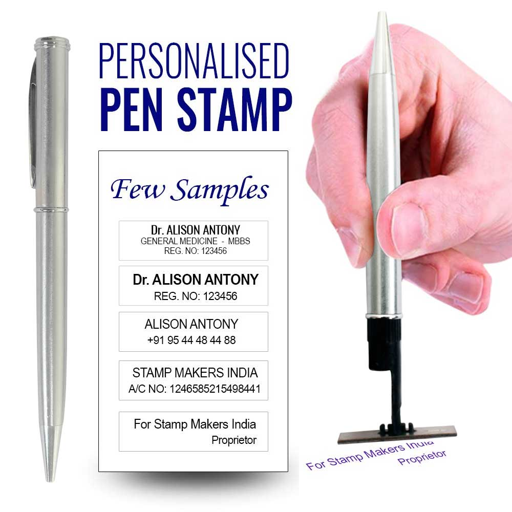 Pen Stamp Pen With Stamp Pad Pen Seal Pen With Seal Pad