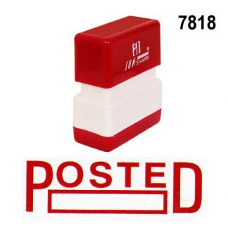 posted stock stamp, posted pre ink seal, posted seal