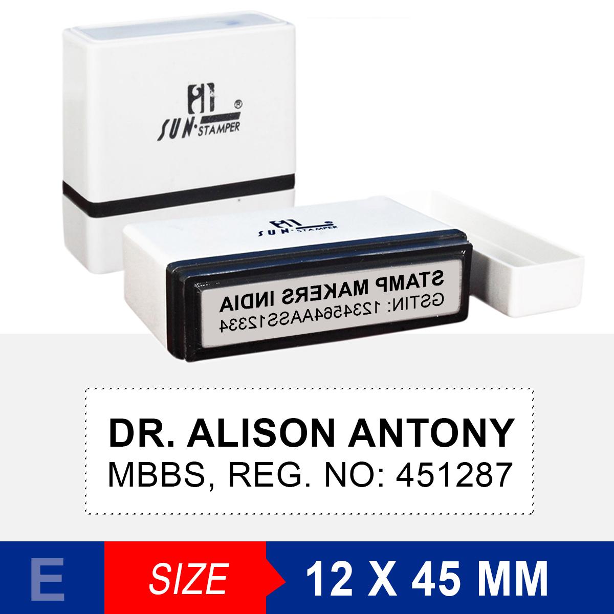 Doctors Stamp 12x45 Mm Sun Stamp Online Stamp